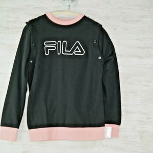 FILA Sweatshirt XS Womens Detachable Long Sleeve
